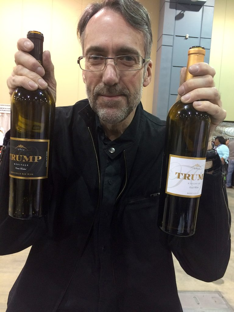 Me with Trump wines!