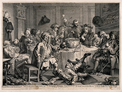 a_drunken_party_with_men_smoking_sleeping_and_falling_to_th_wellcome_v0019069